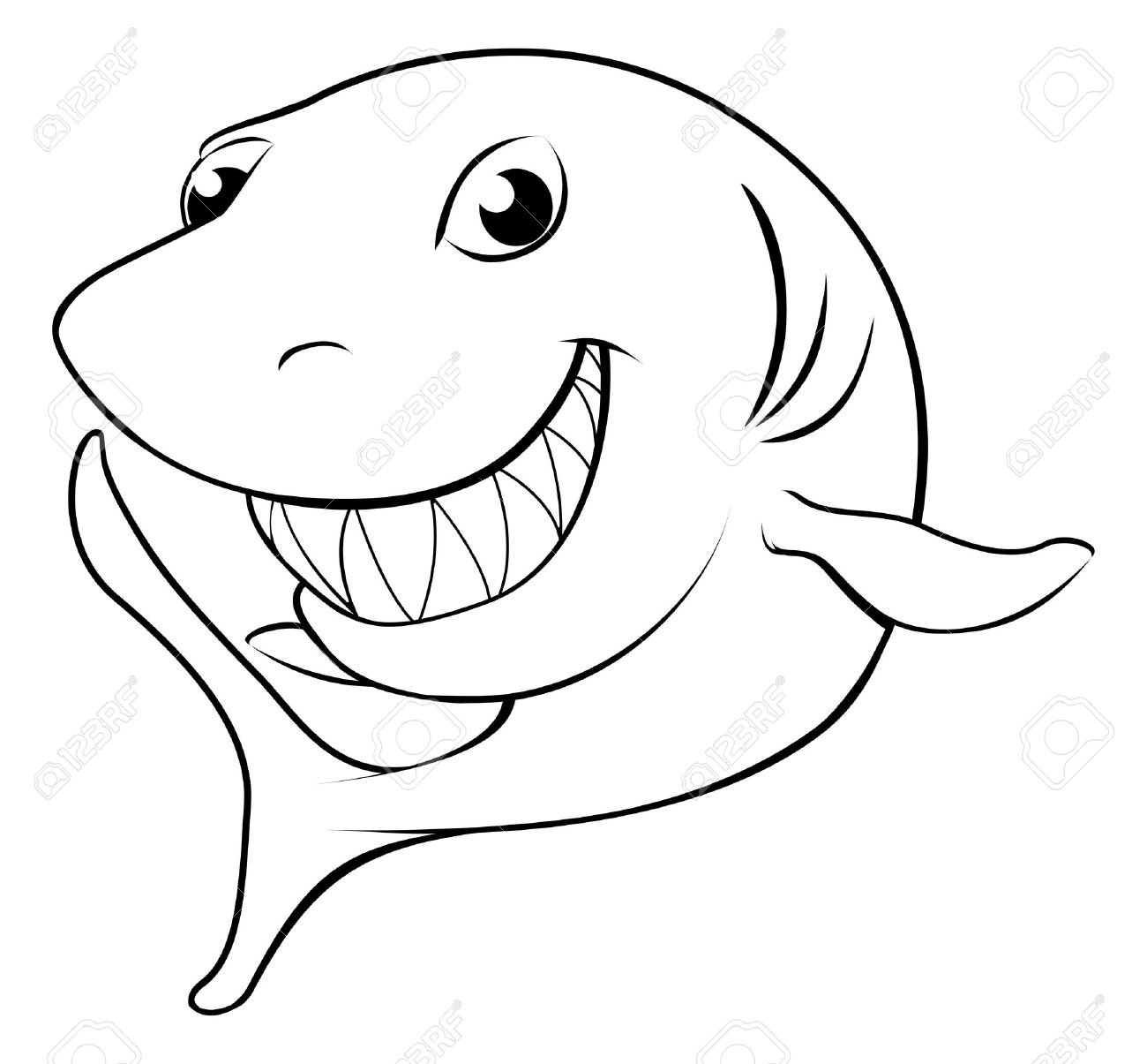 1300x1205 Shark Clipart Shark Face