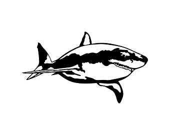 340x270 Shark Vector Etsy