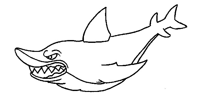 650x351 Staggering Shark Outline 55 Shape Templates Crafts Colouring Pages