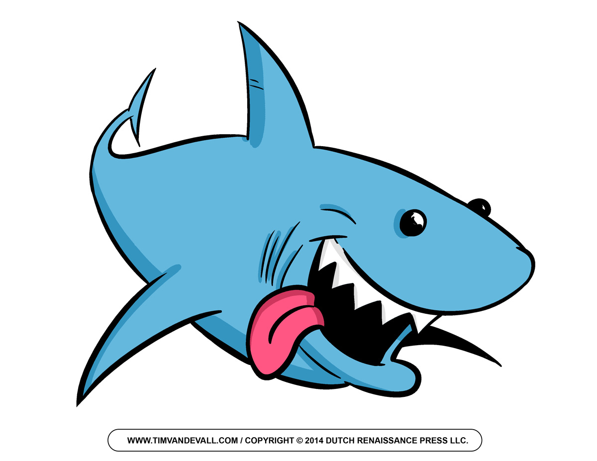 1200x927 Free Cartoon Shark Clipart, Shark Outline And Shark Silhouette