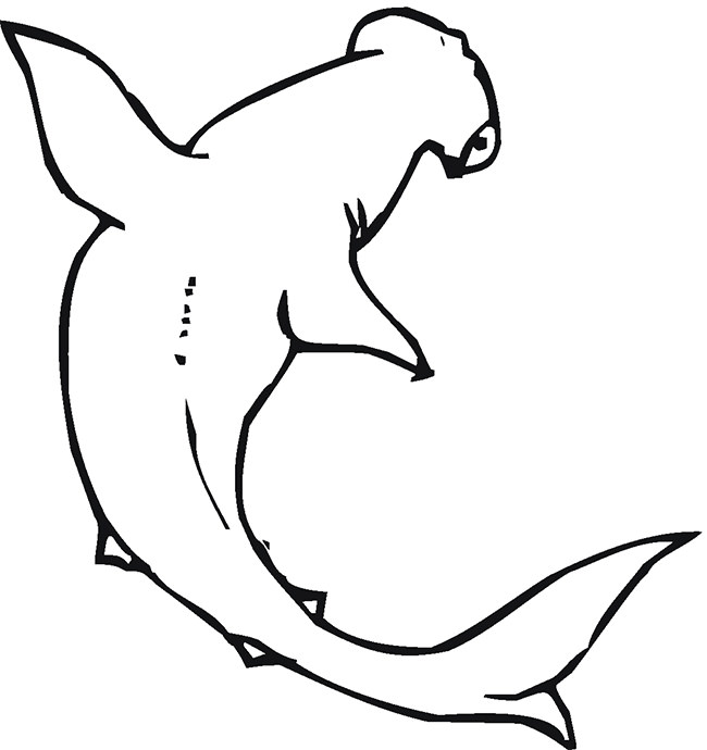 650x690 Shark Shape Templates, Crafts Amp Colouring Pages Free
