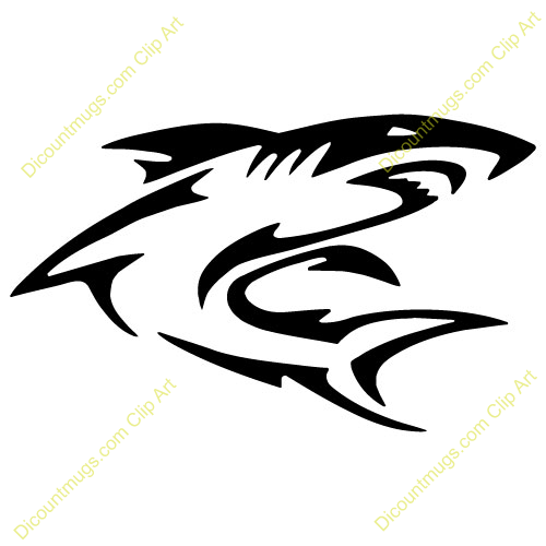500x500 Mako Shark Clipart Shark Outline