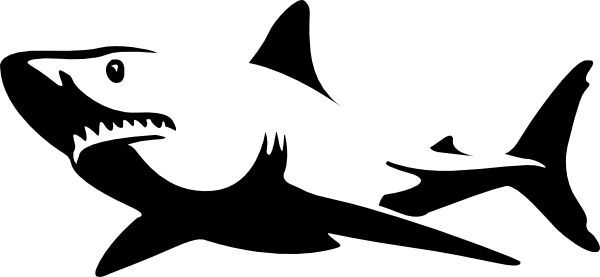 600x277 Tiger Shark Clipart Shark Outline
