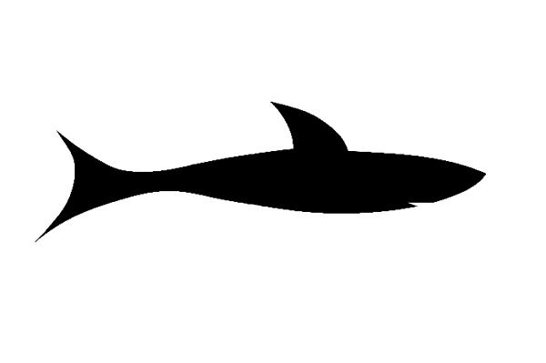 600x399 Shark Black Clip Art