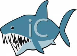 300x219 Shark With Really Sharp Teeth