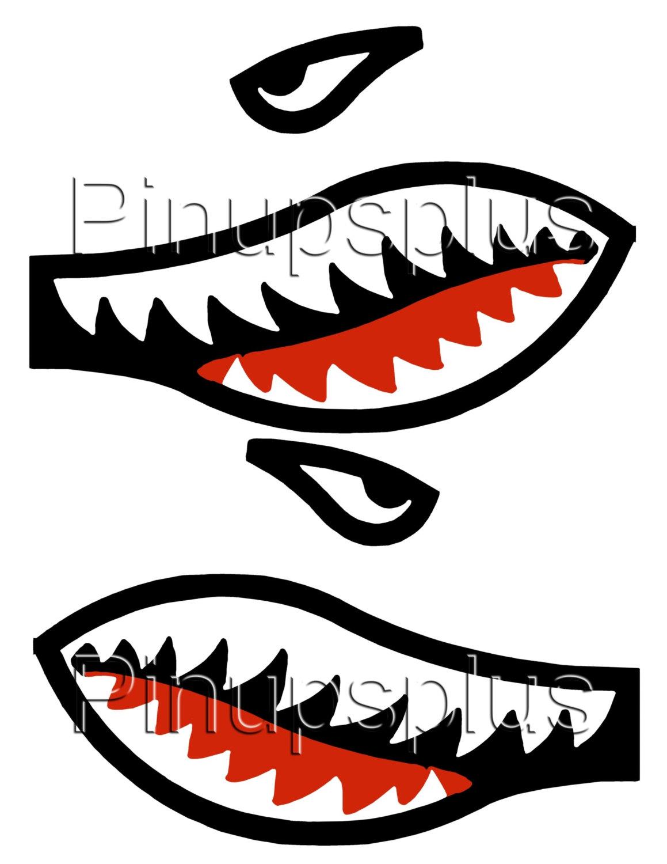 1159x1500 Warhawk War Hawk Flying Tigers Shark's Teeth Waterslide