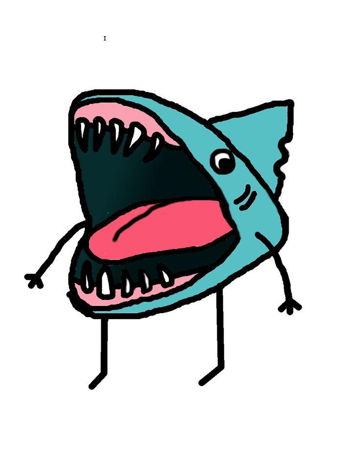 735x919 Best Shark Drawing Ideas Shark, Drawings