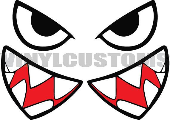 570x403 Bullet Bill Flying Tigers Vinyl Decal Sticker Shark Teeth