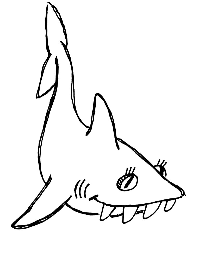 760x975 Shark Teeth Clipart Clipart Panda