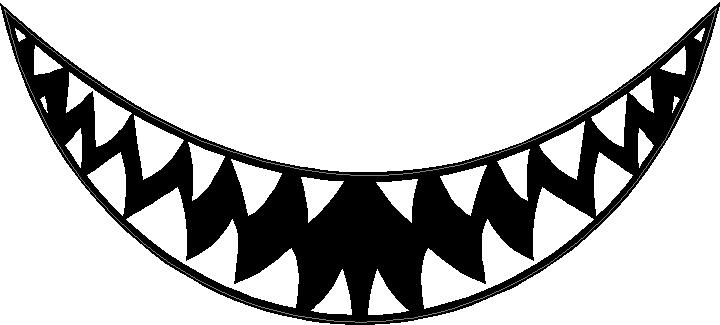 720x325 Teeth Clipart Sharp Tooth