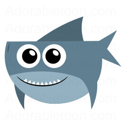 250x250 Cute Shark Clipart From Underwater