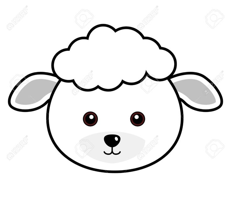 Sheep Black And White Clipart