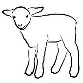 170x170 Clipart Of Cute Sheep Head Black And White K19050731