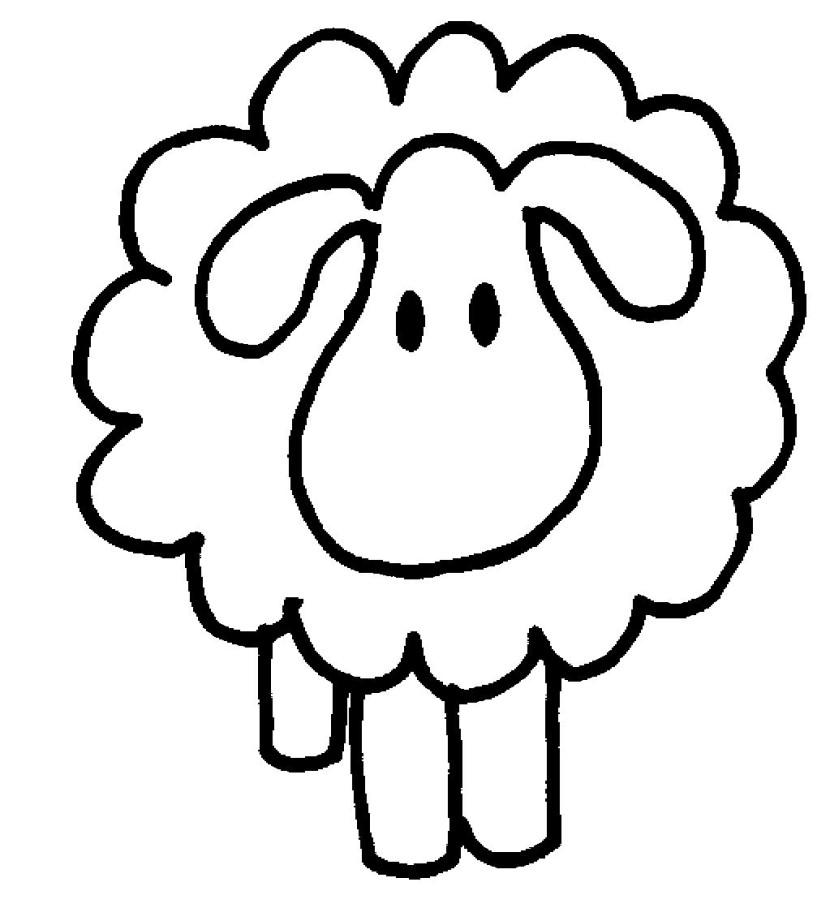 830x921 Sheep Clipart Balck White