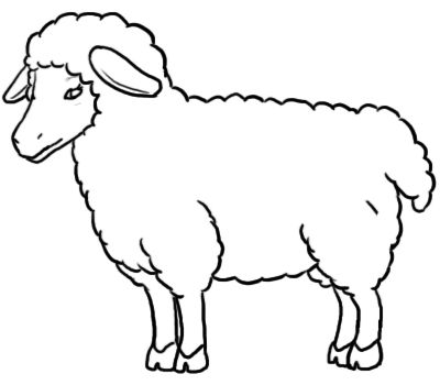 400x350 Sheep Clipart Black And White