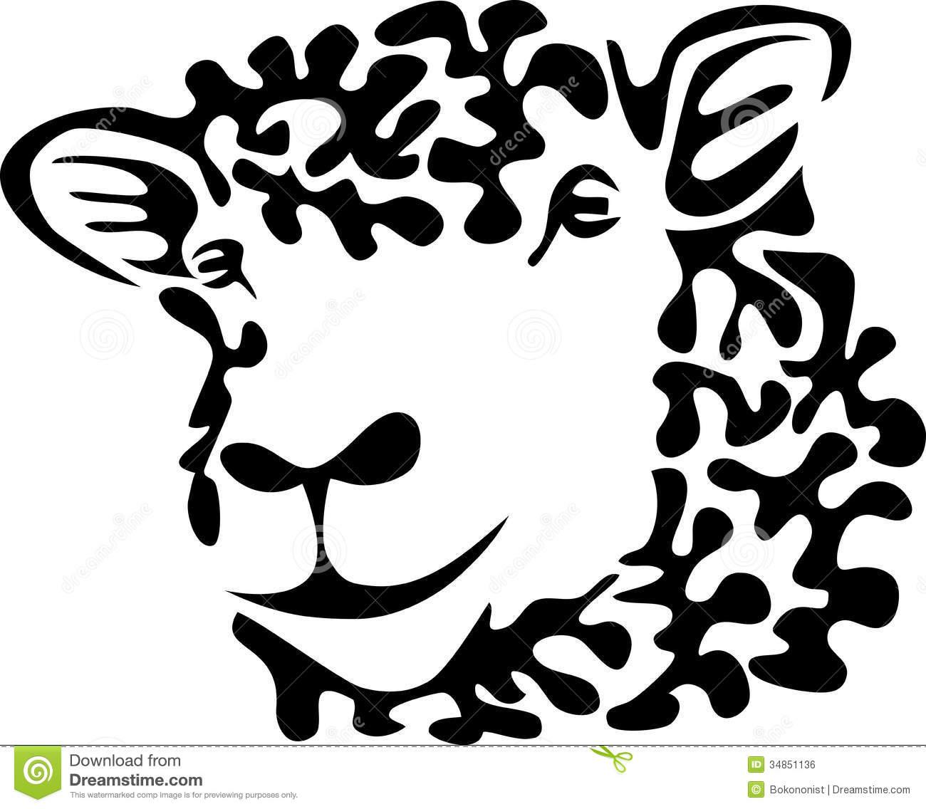 1300x1136 Sheep Head Clipart
