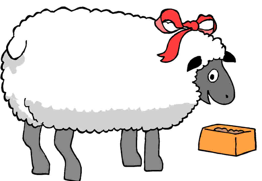 1024x707 Sheep Lamb Clipart Black And White Free Clipart Images Clipartix 6