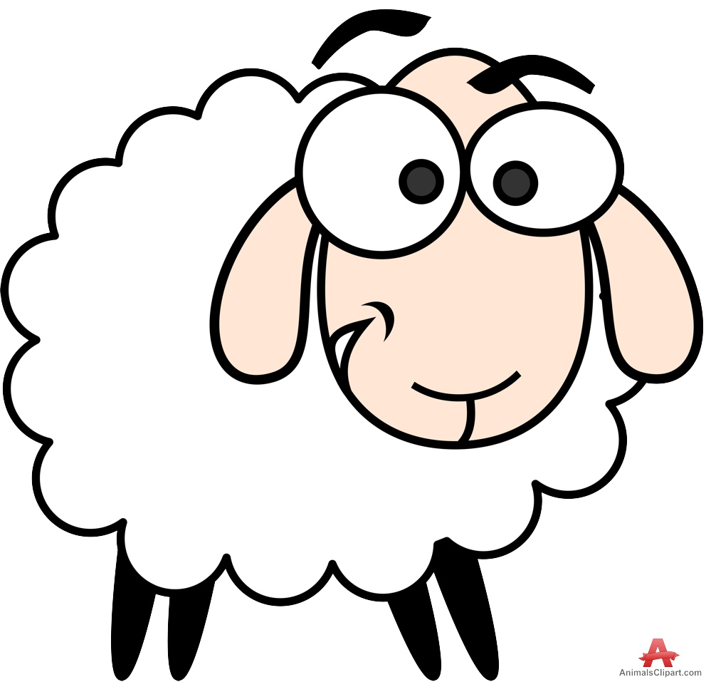 999x957 Cute Sheep Character Clipart Free Design Download Clipartbarn