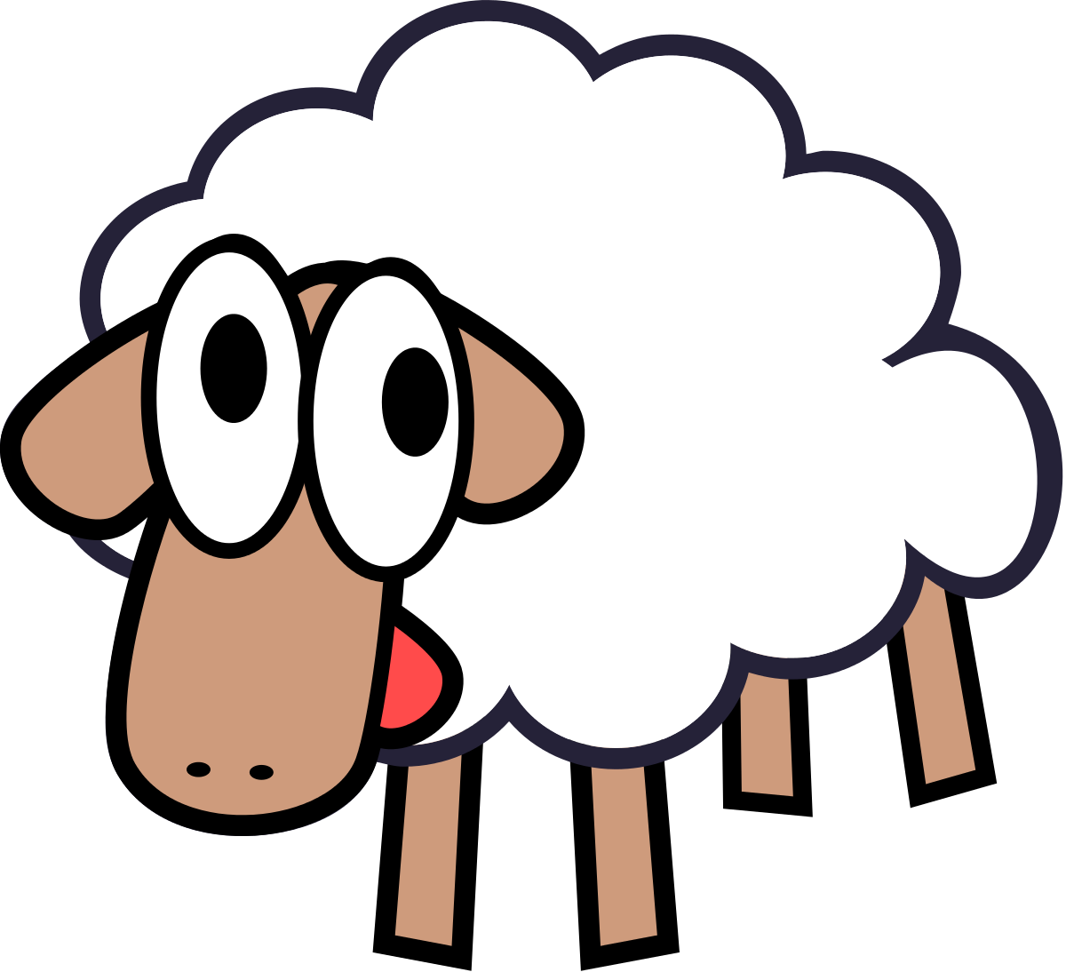 1200x1094 Lamb outline sheep clip art free clipart images image