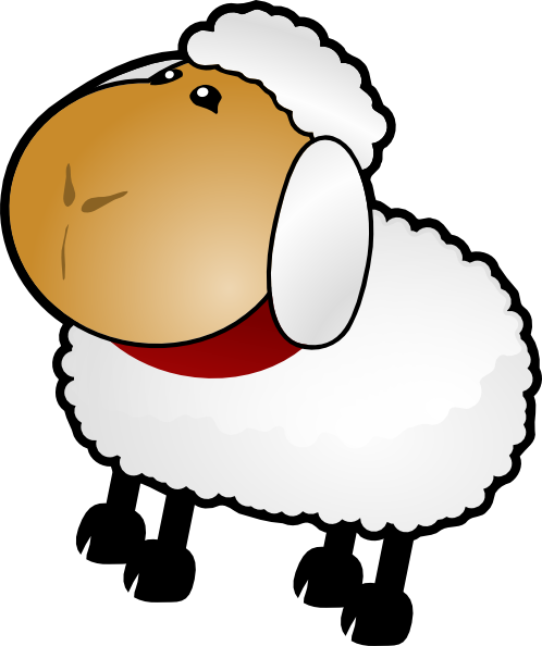 498x594 Sheep, Rotate 3 Clip Art