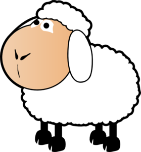 279x299 Sheep With A Colored Face Clip Art