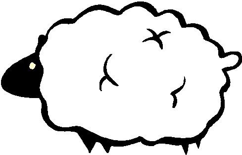489x313 Black Sheep Clipart 6 Sheep Clip Art 2 Clipartix 2