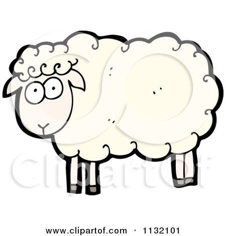 450x470 Cartoon Sheep Clipart