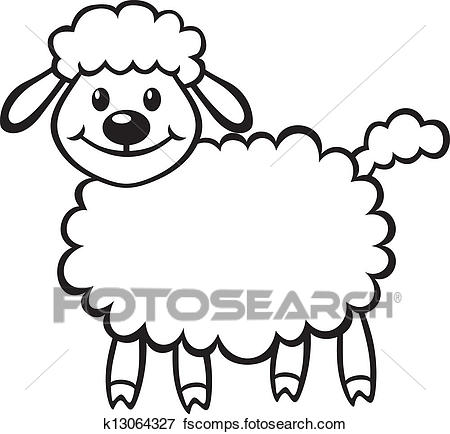 450x434 Clip Art Of Cute Little Lamb K13064327