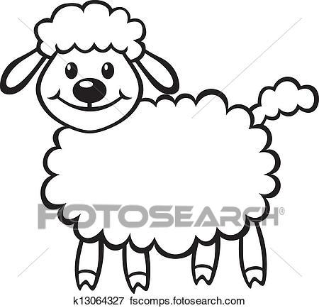 450x434 Clip Art Of Cute Little Lamb K13064327