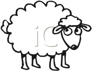 300x231 Cute Sheep Clipart Clipartmonk