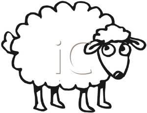 300x231 Cute Sheep Clipart Clipartmonk