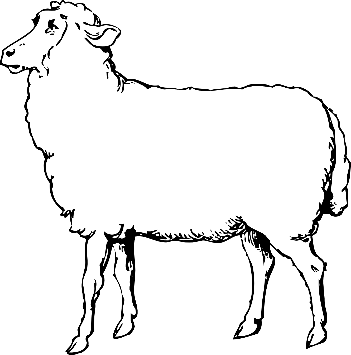 1331x1345 Image Of Black Sheep Clipart