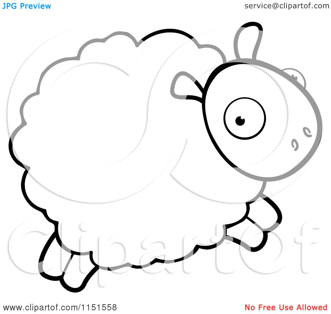 1080x1024 Lamb Clipart Coloring