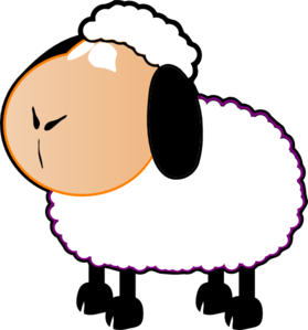 279x299 Black And White Sheep Clip Art