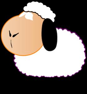279x299 Black And White Sheep Clip Art