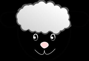 298x204 Black Happy Sheep Clip Art Clipart Panda