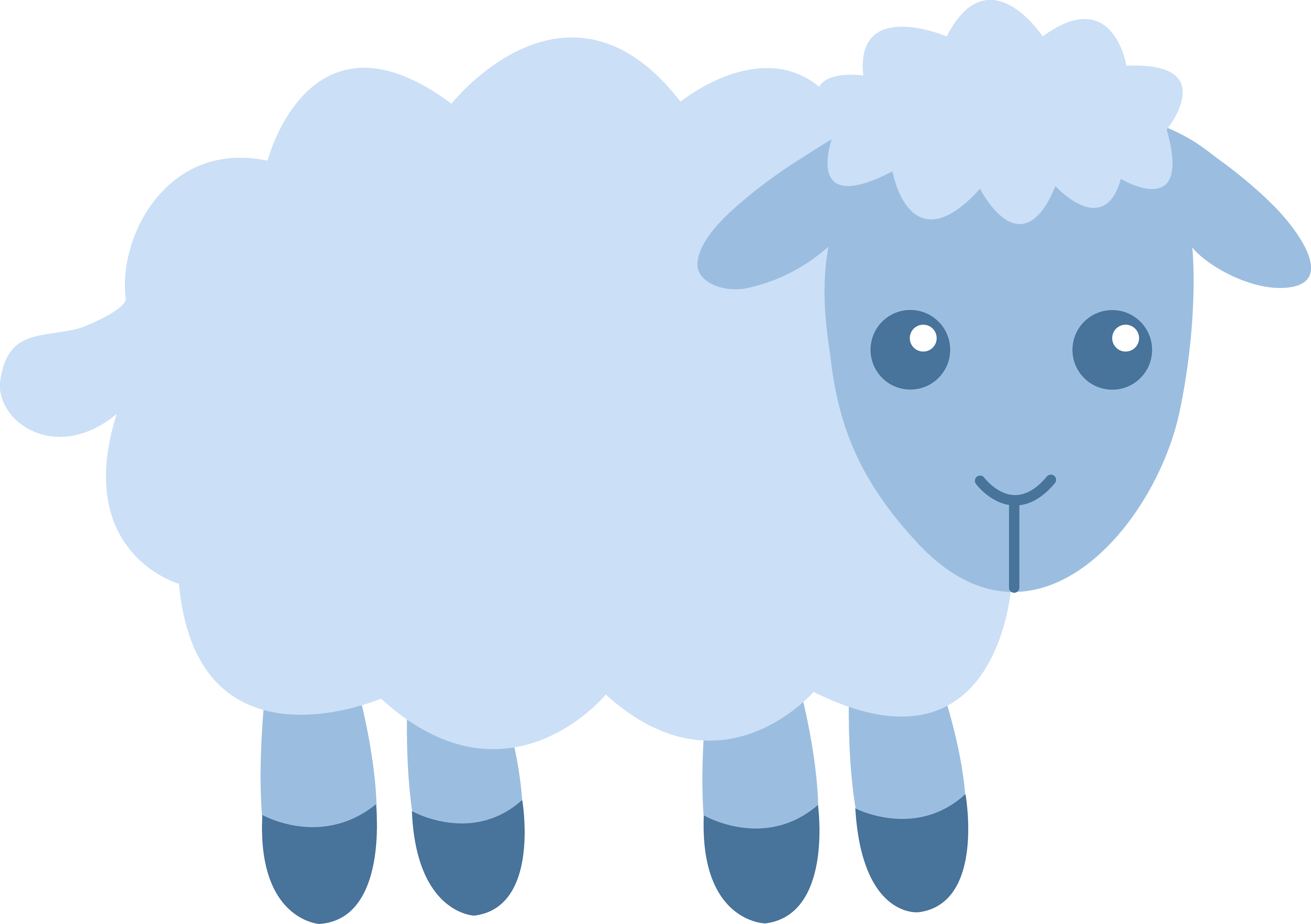 5817x4102 Cute Blue Sheep