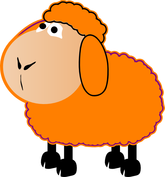 558x597 Orange Sheep Clip Art