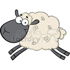 300x300 Royalty Free Royalty Free Rf Clipart Illustration Black Head Sheep