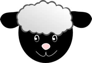 298x204 Sheep Head Clipart