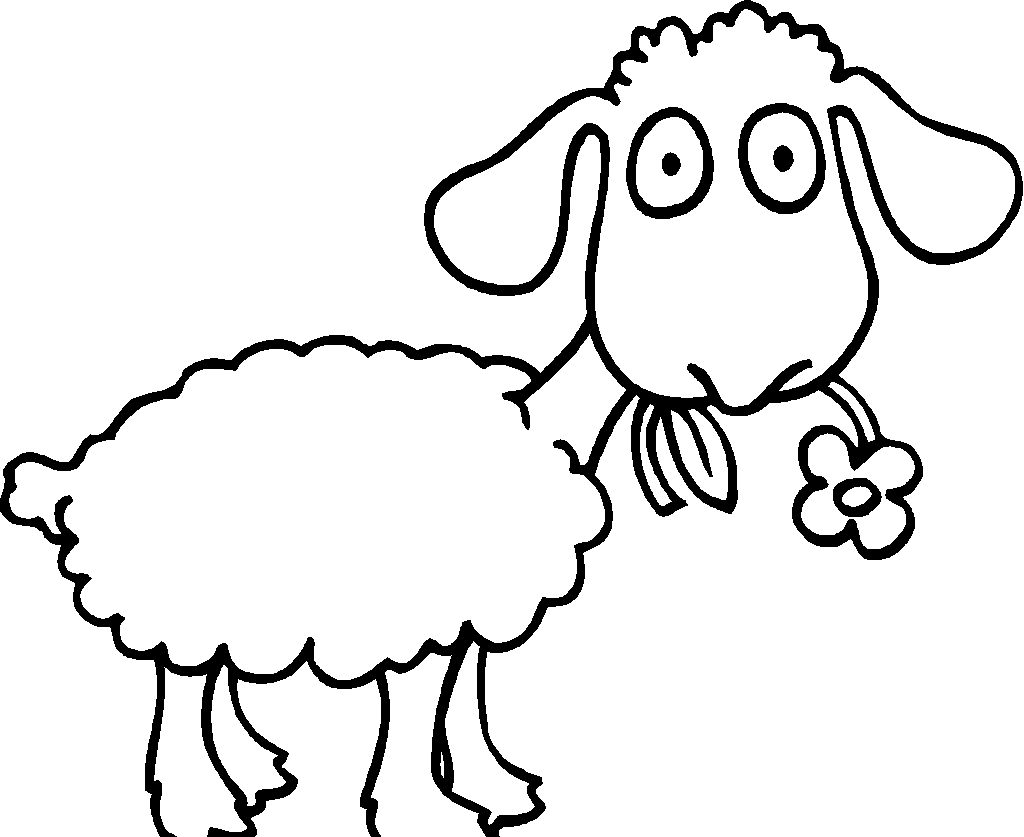1024x837 Drawn Sheep Colouring Page