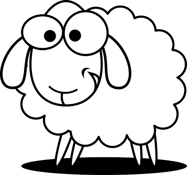 640x600 Drawn Sheep Kid