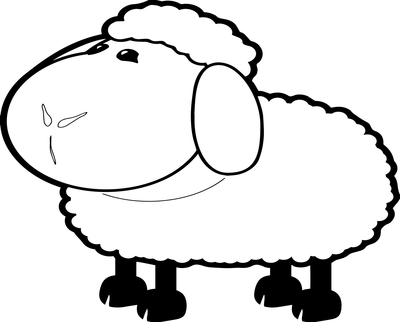 400x322 Sheep Coloring Page Image Clipart Images