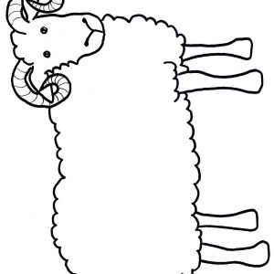 300x300 A Lamb Gold Horns Make Kids Crafts Template Adult