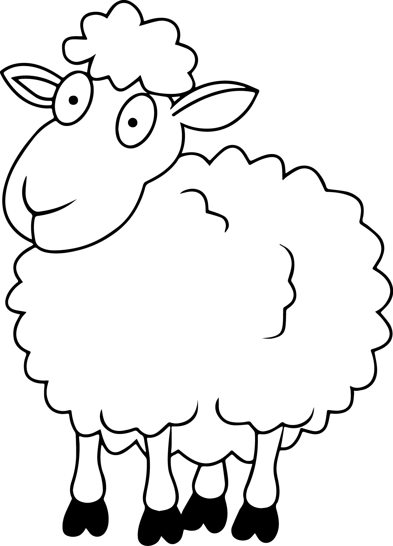 1262x1751 Sheep Coloring Pages For Kids