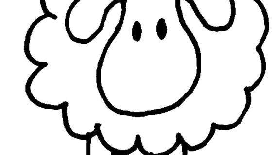 570x320 Simple Drawing Of A Sheep How To Draw Sheep For Kids