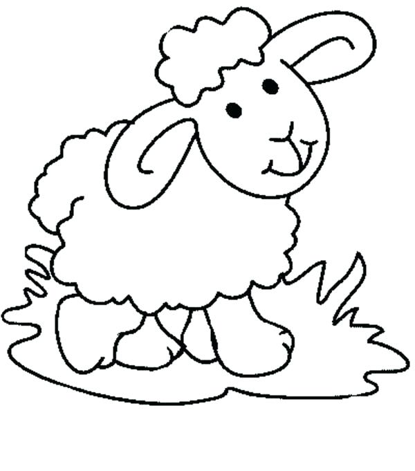 600x681 Sheep Coloring Pages Thaypiniphone