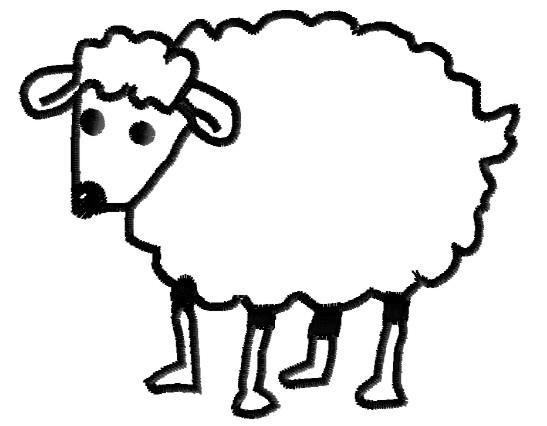 547x426 Graphics For Sheep Outline Graphics