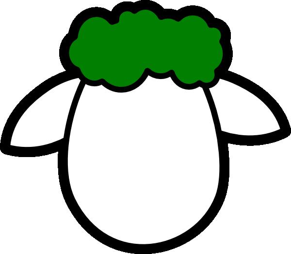600x524 Green Counter Sheep Clip Art