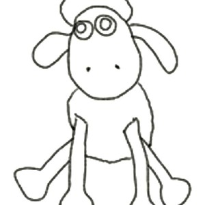 300x300 How To Draw Shaun Sheep Coloring Page How To Draw Shaun